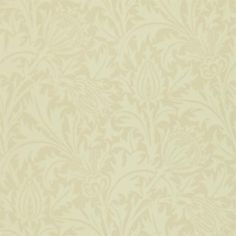 Thistle - Morris Wallpapers - The classic all over thistle pattern wallpaper design from William Morris - in a lovely subtle stone on soft beige colourway. Other colours available. Please ask for sample for true colour match. William Morris Wallpaper, Morris Wallpapers, Rabbit Wallpaper, Paper Wallpaper, Wallpaper Roll, Thistle Wallpaper, Beige Wallpaper, Harlequin Fabrics, Art Nouveau