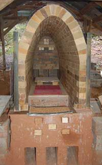 Sign up for the free newsletter to get the plans for this wood firing kiln free!
