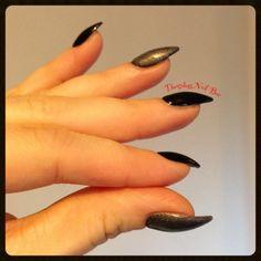 Ibd gel nails. Just gel polish. Black lava and pretty in pewter