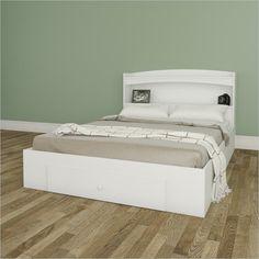 Nexera Vichy Storage Bed with Headboard in White