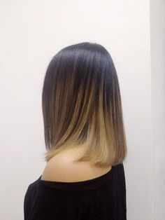Sleek and straight ombrelivable hair!!