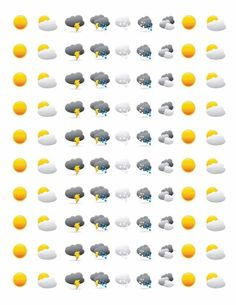 Sweet weather stickers! #planners #organise #plan #stickers #stationery #beestationery #organisers #stationerylovers:
