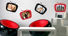 Change the look of your rooms in a heartbeat with Dezign With a Z's MyTV! Modern Wall Stickers, Custom Wall Decals, Vinyl Designs, Shop Signs, Wall Murals, Picture Frames, Wall Decor, Room Ideas, Pictures
