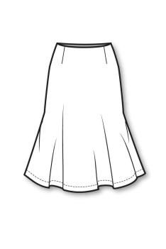 Skirt Line Drawings on skirt easy fashion sketches