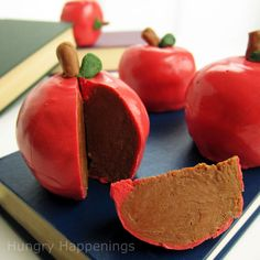 Inside out Chocolate-Caramel Apples! Just a hint of apple taste, bursting with chocolate and caramel flavor.