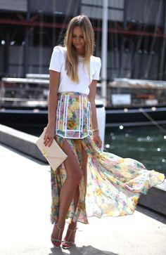 Bohemian Rhapsody Floral Maxi Skirt delish...