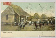 CUBA. ALDEA CUBANA. (CIRCULADA EN 1904. HABANA, CUBA - BARCELONA) (Postales - Postales Extranjero - América - Cuba)