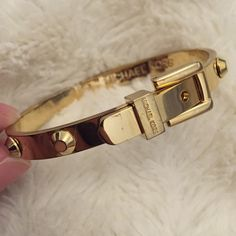 Michael Kors studded buckle bracelet Classic Michael Kors buckle bracelet. Minor wear and tear scratches and marks. Worn only a couple of times. Can no longer be found in Michael Kors retailers. Michael Kors Jewelry Bracelets