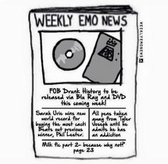 Fob, Sarah Urie, Phil Lester, and Tyler Joseph. I'D SO READ THIS