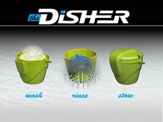 Washing dishes when camping is a pain. This device makes it convenient and easy