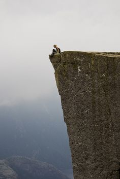 If you're not living life on the edge, you're taking up too much space!!!    Norway: life without guardrails.