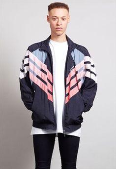 Vintage multi coloured 80's Adidas shell jacket