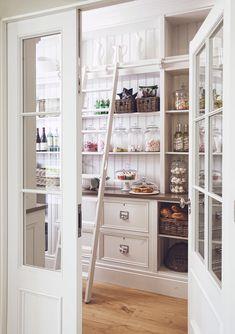 Interior Design: A Coastal Hideaway by Hayburn & Co., Sandbanks #walk in pantry #kitchen #storage #built-ins