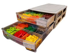 Lego Storage Ideas And Solutions. Stackable And Interlocking Drawers And  Boxes For Lego Brick Storage