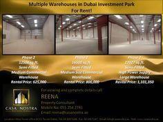 Multiple warehouses in Dubai Investment Park for Rent!!