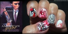 American Psycho Nails by Sincerely Stephanie