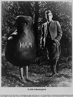 the ham suit seems very big and bulky, kinda how it was describes in the book. the ham costume is very important because it's what Scout wears in a really big part in the book. Also, the simplisity of it gives it a feel that it was created by a not-so-rich family, making the costume more believable for the time period.
