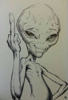 12 Alien-Bleistiftzeichnungen The Effective Pictures We Offer You About crayons para Alien Drawings, Pencil Art Drawings, Art Drawings Sketches, Tattoo Sketches, Cartoon Drawings, Cool Drawings, Zombie Drawings, Landscape Pencil Drawings, Funny Sketches