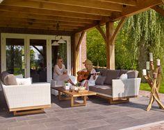 Slide loungeset wit wicker !   Buitenhof