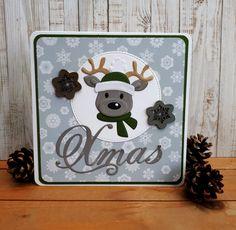 52 Weeks to Christmas: Color Challenge. (Scrapbook by Colien) Christmas Colors, Christmas Cards, Xmas, Marianne Design Cards, 52 Weeks, Cardmaking, Greeting Cards, Santa, Challenges