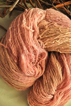 This is a 1 ply light fingering yarn from Latvian sheep. This spinning factory do not use any chemicals or bleach which makes it organic and eco friendly. Yarn is washed by old methods with salt in pond water, which allows to keep the maximum of lanolin (up to 70%) which makes it very warm.   * 100g/3,5oz = 400m / 437 yards  * Variegated pink, beige and purple shades  * Plant dye :  Madder (lat. Rubia Tinctorum)   This woolen yarn is perfect for knitting, weaving, crochet or as...