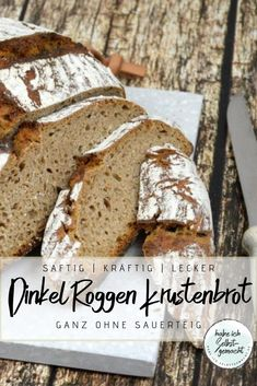 Bread # 36 - Spelled Rye Crust Bread Without Sourdough-Brot – Dinkel Roggen Krustenbrot ohne Sauerteig Recipe for a rustic and strong-tasting spelled … - Sourdough Recipes, Sourdough Bread, Bread Recipes, Chocolate Cake Recipe Easy, Chocolate Pies, Le Diner, Pampered Chef, Evening Meals, Vegan Recipes