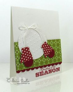 Stampin' Up Mitten Punch Holiday Card Making