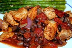 Slow carb southwest chicken. Great idea for a healthy, but filling dinner. I have made this countless time and still love it.