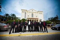 Such a cool wedding shot of the guys at @CityPlace in Florida. (via Poirier Wedding Photography)