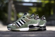 adidas Originals ZX 750: Green/Grey/Black