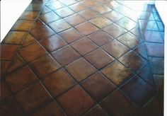 Whitewashed / stained Mexican Saltillo paver tiles. | Home Decor ...