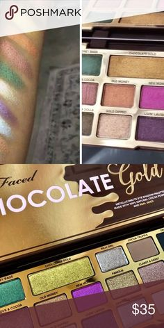 Too Faced Gold Chocolate Eyeshadow Palette Too Faced Gold Chocolate Authentic Eyeshadow Makeup Palette  Never Used I accidentally bought two Too Faced Makeup Eyeshadow