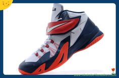 "e6079413f1182 Cheap For Sale Nike Zoom Lebron Soldier 8 ""USA"" White Obsidian-University  Red"