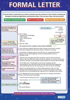 Great tool - perfect structure to writing a formal letter. Ielts Writing, Academic Writing, Teaching Writing, Essay Writing, Writing Tips, Essay Prompts, Paragraph Writing, Email Writing, Writing Letters