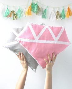 Crafts to Make and Sell - DIY Diamond Pillow - Cool and Cheap Craft Projects and DIY Ideas for Teens and Adults to Make and Sell - Fun, Cool and Creative Ways for Teenagers to Make Money Selling Stuff to Make http://diyprojectsforteens.com/crafts-to-make-and-sell-for-teens