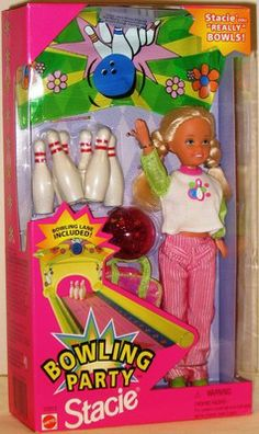 90s Stacie Bowling Barbie Doll, either myself or allie had this. not sure but someone had it