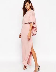 ASOS+Extreme+Cape+Maxi+Dress
