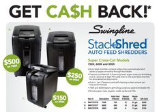 Get cash back on qualifying Swingline Super Cross-Cut Shredder models #rebate