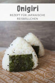 Rezept für japanische Reisbällchen /Onigiri mit verschiedenen Füllungen #japanisch #japan