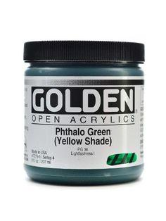 Open Acrylic Colors phthalo green (yellow shade), 8 oz. jar