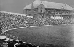Bramall Lane A cricket crowd in front of the Pavilion for an Ashes Test against Australia in 1902