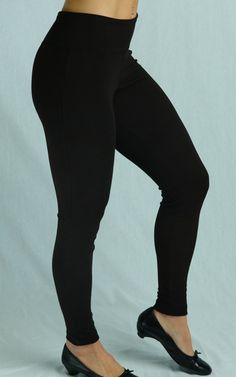 Naturally eco-friendly Bamboo Leggings are sooo comfortable! Made in Canada in sizes XS-22 $55