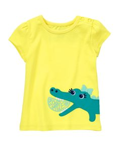 Smile! Our sweet gator is ready to charm on our soft cotton tee. Super comfy fit keeps her ready to play all day. (Gymboree 3m-5T)