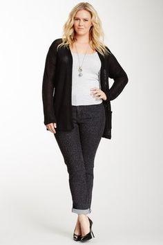 HauteLook   NYDJ Plus Size: Jazlene Leopard Bootcut Jean - I ♥♥♥♥ NYDJ!