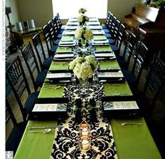 lime green silver and black wedding | Thursday, January 31, 2013