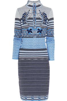 Mary Katrantzou|Intarsia knitted wool-blend dress|NET-A-PORTER.COM