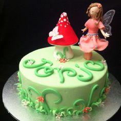 Pink fairy cake 5th birthday