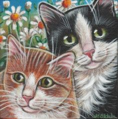 Cat Spring Painting