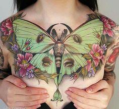 Uhm yes... Luna Moth tattoo\eyes