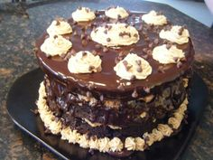 Peanut Butter Cookie Dough Brownie Layer Cake (May/14) MItchell's Birthday